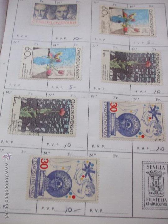 Sellos: .checoslovaquia 8 libretas aproximadamente 1540 sellos clasificados, diversas calidades + fotos - Foto 122 - 51002279