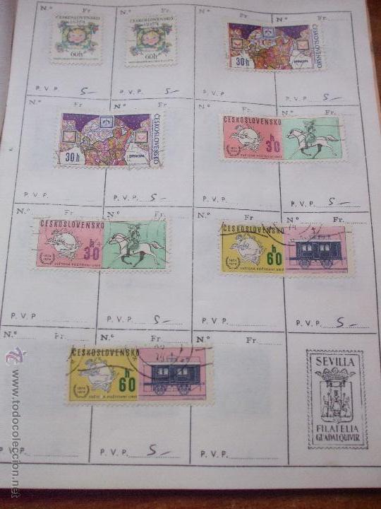 Sellos: .checoslovaquia 8 libretas aproximadamente 1540 sellos clasificados, diversas calidades + fotos - Foto 123 - 51002279