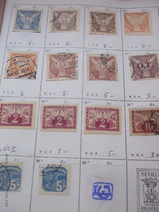 Sellos: .checoslovaquia 8 libretas aproximadamente 1540 sellos clasificados, diversas calidades + fotos - Foto 124 - 51002279