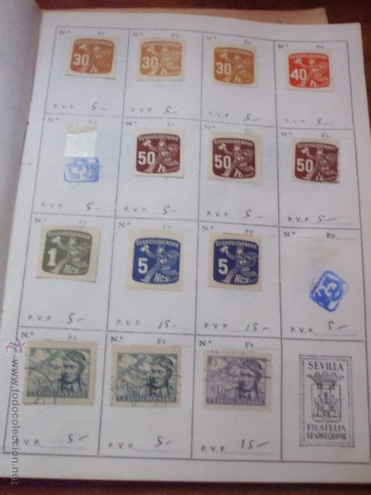 Sellos: .checoslovaquia 8 libretas aproximadamente 1540 sellos clasificados, diversas calidades + fotos - Foto 126 - 51002279