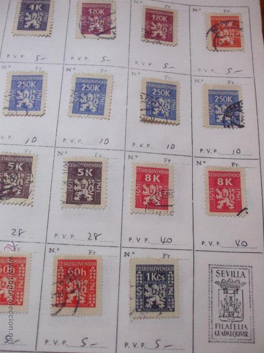 Sellos: .checoslovaquia 8 libretas aproximadamente 1540 sellos clasificados, diversas calidades + fotos - Foto 128 - 51002279