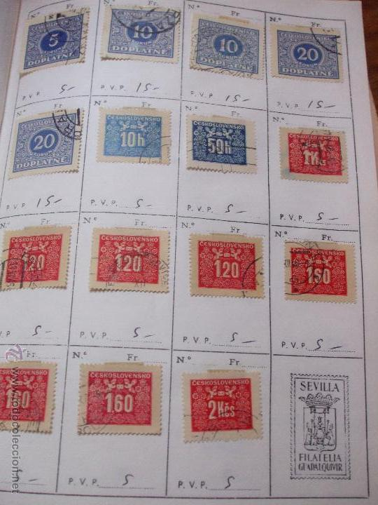 Sellos: .checoslovaquia 8 libretas aproximadamente 1540 sellos clasificados, diversas calidades + fotos - Foto 135 - 51002279
