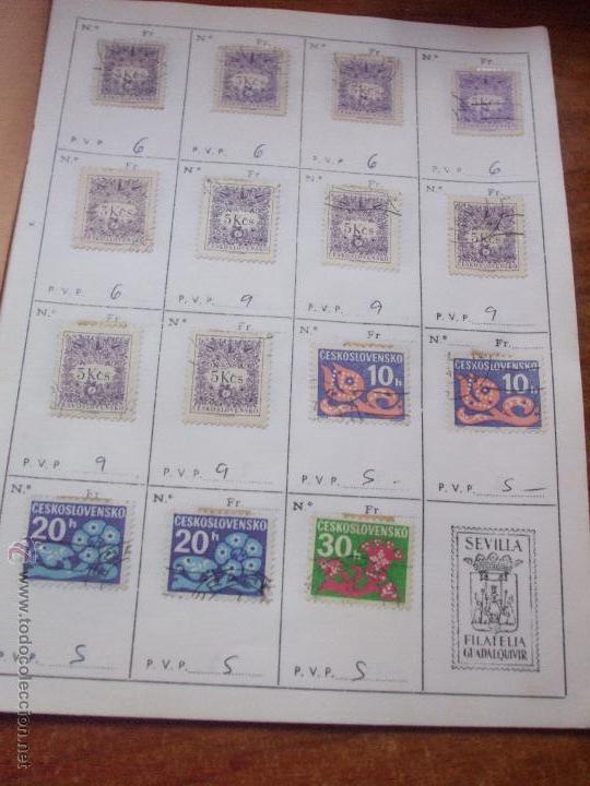 Sellos: .checoslovaquia 8 libretas aproximadamente 1540 sellos clasificados, diversas calidades + fotos - Foto 140 - 51002279