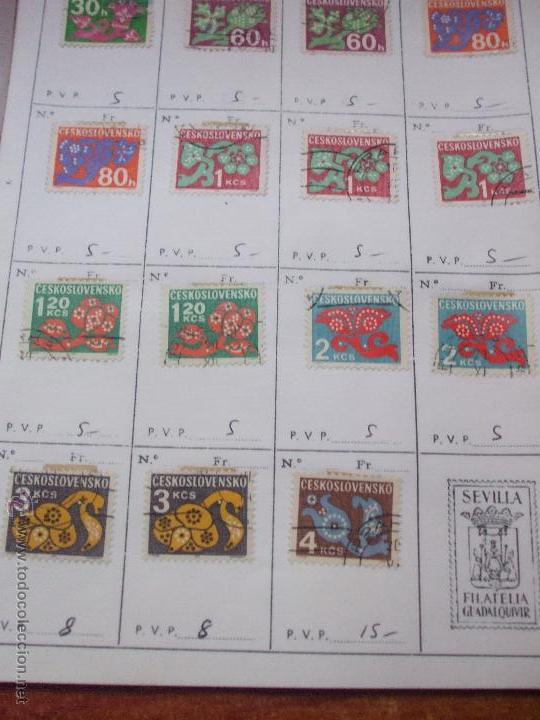 Sellos: .checoslovaquia 8 libretas aproximadamente 1540 sellos clasificados, diversas calidades + fotos - Foto 141 - 51002279