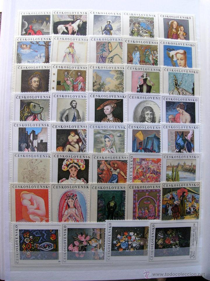 SELLOS - CHECOSLOVAQUIA 1968 - 1980 ARTE, PINTURA 22 SERIES MNH*** (Sellos - Extranjero - Europa - Otros paises)