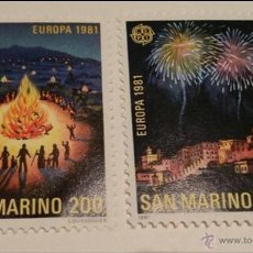 Sellos: 1981, EUROPA, SAN MARINO, FOLKLORE. NUEVO SIN CHARNELA.. Lote 51711713