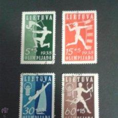 Sellos: SELLOS LITUANIA DEPORTES. YVERT 362/5. SERIE COMPLETA USADA. JABALINA. ARCO. RELEVOS.. Lote 52126190