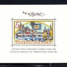 Sellos: CHECOSLOVAQUIA HB 21* - AÑO 1962 - EXPOSICIÓN FILATÉLICA DE PRAGA. Lote 52170456