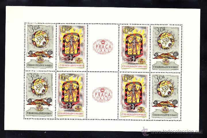 CHECOSLOVAQUIA HB 22** - AÑO 1962 - EXPOSICIÓN FILATÉLICA DE PRAGA (Sellos - Extranjero - Europa - Otros paises)
