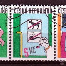 Sellos: REPUBLICA CHECA . 1999 SERIE: 1999 TIRAS HUMORÍSTICAS DE MIROSLAV VARTAK. *.MH. Lote 52633823