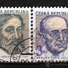 Sellos: REPUBLICA CHECA . 1994 SERIE : PERSONAJES. *.MH. Lote 52633987