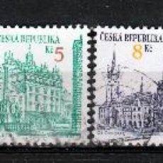 Sellos: REPUBLICA CHECA. 1993, SERIE BASICA: TURISMO. *.MH. Lote 52634005