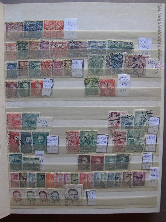 Sellos: Checoslovaquia. Lote de series completas y hojas bloque en archivador. - Foto 3 - 131596993