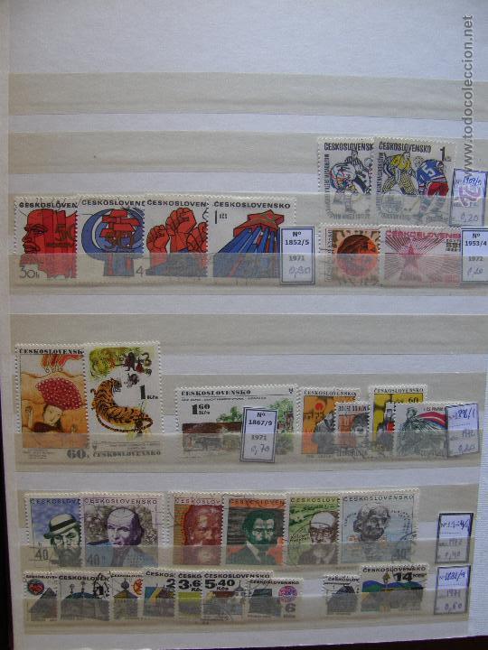 Sellos: Checoslovaquia. Lote de series completas y hojas bloque en archivador. - Foto 10 - 131596993