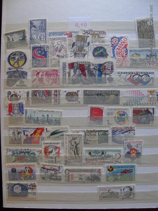 Sellos: Checoslovaquia. Lote de series completas y hojas bloque en archivador. - Foto 18 - 131596993