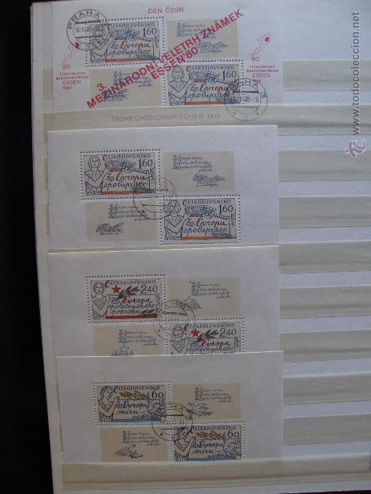 Sellos: Checoslovaquia. Lote de series completas y hojas bloque en archivador. - Foto 20 - 131596993