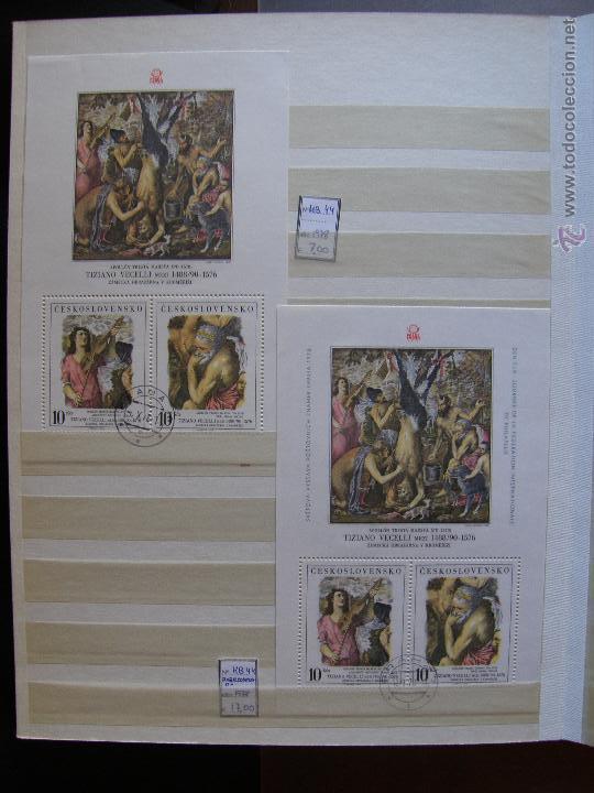 Sellos: Checoslovaquia. Lote de series completas y hojas bloque en archivador. - Foto 22 - 131596993