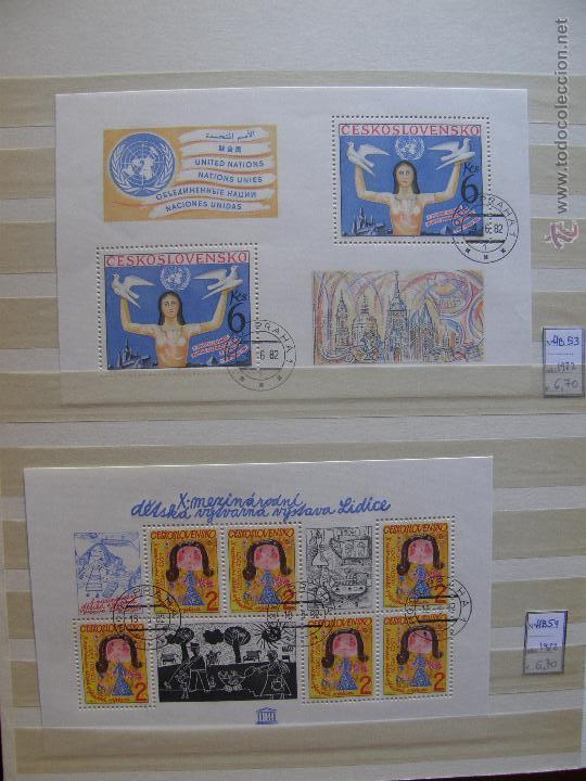 Sellos: Checoslovaquia. Lote de series completas y hojas bloque en archivador. - Foto 25 - 131596993