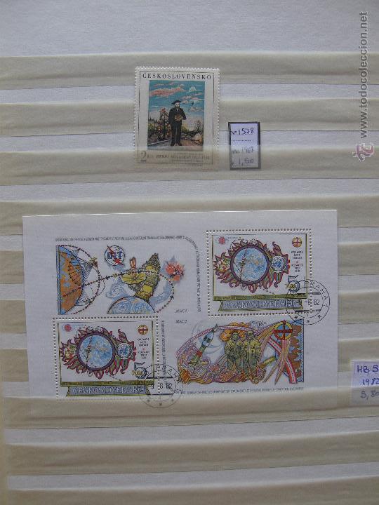 Sellos: Checoslovaquia. Lote de series completas y hojas bloque en archivador. - Foto 30 - 131596993