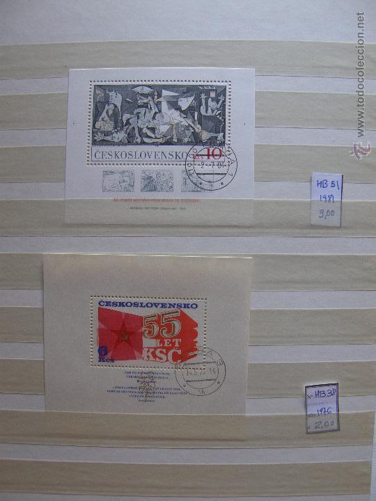 Sellos: Checoslovaquia. Lote de series completas y hojas bloque en archivador. - Foto 31 - 131596993
