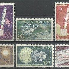 Timbres: CHECOSLOVAQUIA - 1961 - SCOTT 1031/1036 // MICHEL 1252/1257** MNH. Lote 53337773