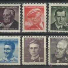 Sellos: CHECOSLOVAQUIA - 1949 - SCOTT 374/379 // MICHEL 566/571** MNH . Lote 53442774