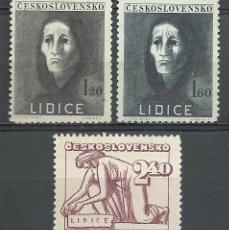 Selos: CHECOSLOVAQUIA - 1947 - SCOTT 329/331 // MICHEL 518/520** MNH . Lote 53442825