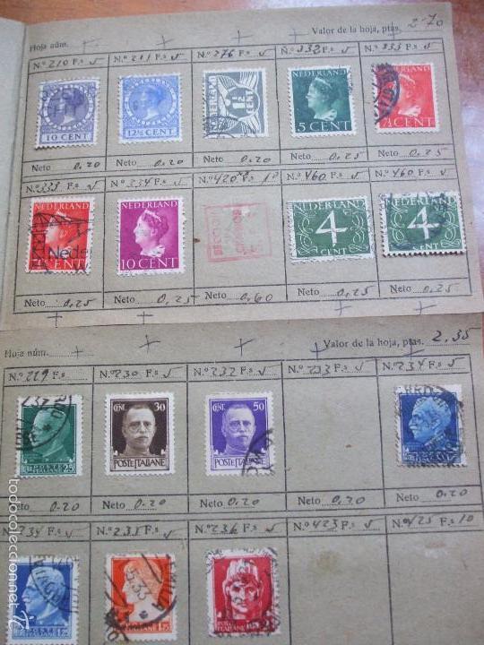 Sellos: .lote paises europa 274 sellos ordenados en libretas(7), diversas calidades, + fotos - Foto 4 - 55095488