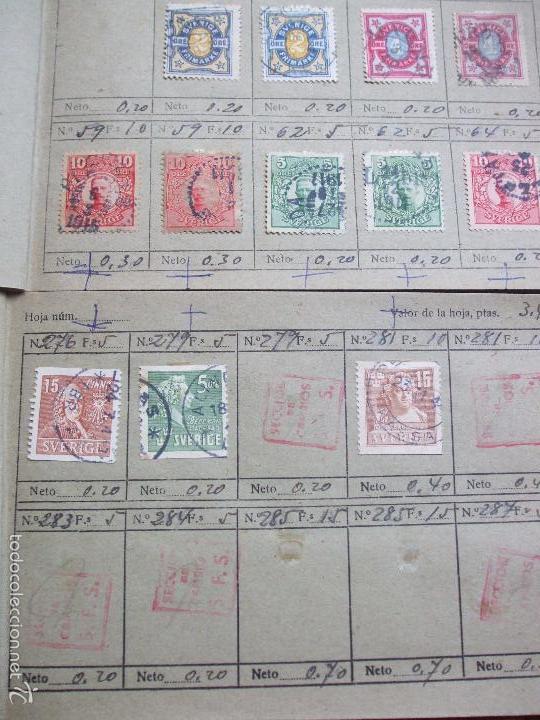 Sellos: .lote paises europa 257 sellos ordenados en libretas(6), diversas calidades, + fotos - Foto 4 - 55096361
