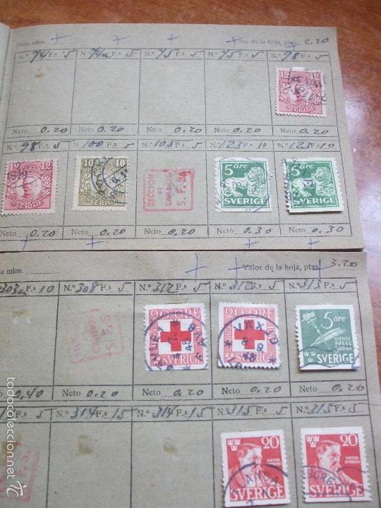Sellos: .lote paises europa 257 sellos ordenados en libretas(6), diversas calidades, + fotos - Foto 5 - 55096361