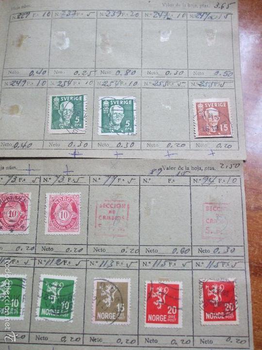 Sellos: .lote paises europa 257 sellos ordenados en libretas(6), diversas calidades, + fotos - Foto 10 - 55096361