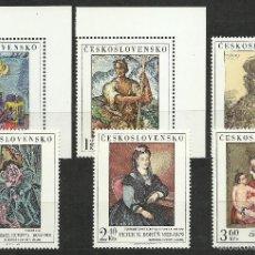 Selos: CHECOSLOVAQUIA - 1973 - MICHEL 2172/2177 // SCOTT 1908/1913** MNH. Lote 55881143