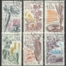 Selos: CHECOSLOVAQUIA - 1961 - MICHEL 1286/1291 // SCOTT 1063/1068 - USADO . Lote 56105640