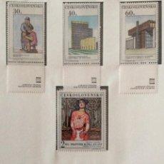 Sellos: SELLOS CHECOSLOVAQUIA 1968 ARQUITECTURA PINTURA. Lote 57120994