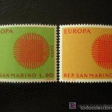 Sellos: SAN MARINO 1970 IVERT 762/3 *** EUROPA. Lote 57958099