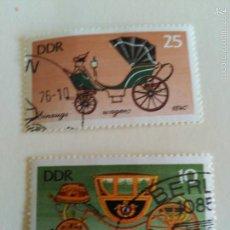 Sellos: 2 VALORES, USADOS. DDR.. Lote 58249899