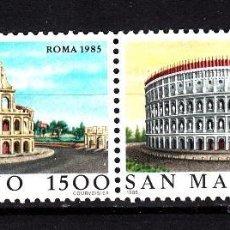 Sellos: SAN MARINO 1985 IVERT 1124/5 *** GRANDES CIUDADES DEL MUNDO (IX) - ROMA. Lote 58294217