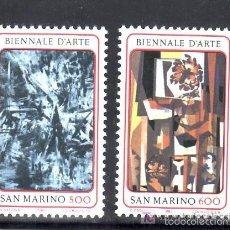 Sellos: SAN MARINO 1987 IVERT 1164/5 *** BIENAL DE ARTE EN SAN MARINO - PINTURA. Lote 58298803