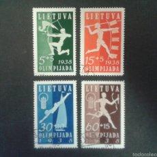 Sellos: SELLOS DE LITUANIA. DEPORTES. YVERT 362/5 SERIE COMPLETA USADA.. Lote 58342265