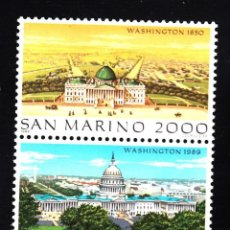 Sellos: SAN MARINO 1989 IVERT 1224/5 *** GRANDES CIUDADES DEL MUNDO (XIII) - WASHINGTON. Lote 58381520