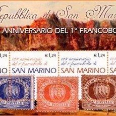 Sellos: SAN MARINO 2002 HB IVERT 32 *** 125º ANIVERSARIO DEL PRIMER SELLO DE SAN MARINO . Lote 58395329