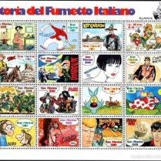 Sellos: SAN MARINO 1997 IVERT 1525/40 *** HISTORIA DEL COMIC ITALIANO. Lote 58395445