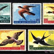 Sellos: SAN MARINO 1959 AEREO IVERT 111/5 *** CENTENARIO DEL SELLO DE NAPOLES. Lote 58412580