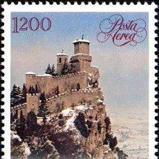 Sellos: SAN MARINO 1991 AEREO IVERT 147 *** NAVIDAD - MONUMENTOS - CASTILLO. Lote 58413237