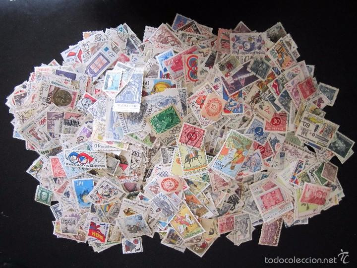 645 SELLOS MATASELLADOS CON GOMA CHECOSLOVAQUIA (Sellos - Extranjero - Europa - Otros paises)