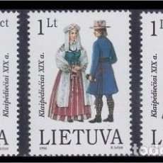 Sellos: LITUANIA 1996 - TRAJES REGIONALES - YVERT Nº 535-537. Lote 62274552