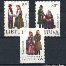 Sellos: LITUANIA 1994 - TRAJES REGIONALES -- YVERT Nº 487-489. Lote 62461896