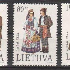 Sellos: LITUANIA 1993 - TRAJES REGIONALES -- YVERT Nº 467-469. Lote 62498996