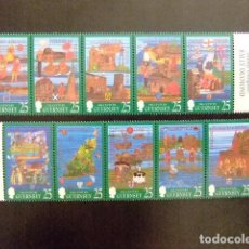 Sellos: GUERNSEY GUERNESEY 1998 TAPISSERIES MURALES YVERT Nº 769 / 78 ** MNH. Lote 69880009