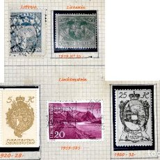 Sellos: LOTE DE 7 SELLOS, LETONIA, LITUANIA Y LIECHTENSTEIN. Lote 70395753